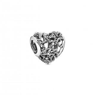 Charm Pandora 798462C00 de plata en forma de corazón y estrellas