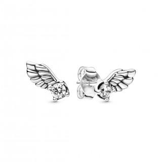 Pendientes Pandora 298501C01 de plata en forma de alas de ángel con circonita