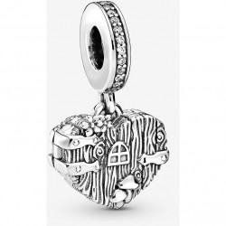 Charm Pandora 798284CZ de plata en forma de corazón dulce hogar