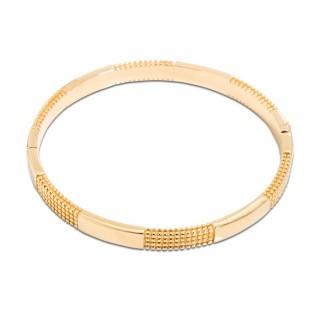 Pulsera rígida de oro bañada en oro de 3 micras lisa y con texturas