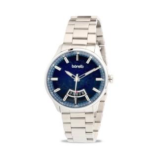 Reloj Borelli 03P13MB01-C Sport para hombre con correa de silicona azul y esfera azul, 5 ATM
