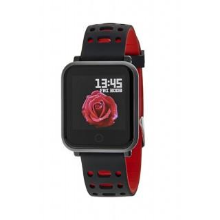 Reloj Marea B57002/1 Smart Concectable con correa de silicona negra y roja, IP67