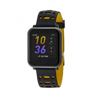 Reloj Marea B57002/2 Smart Conectable con correa negra y amarilla, IP67