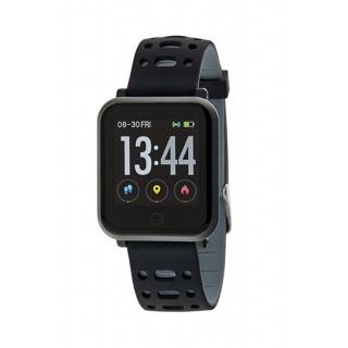 Reloj Marea B57002/3 Smart Conectable con correa de silicona negra y gris, IP67