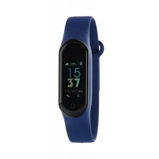 Relógio Marea B57006/3 Smart Actividad com pulseira de silicone azul, 3 ATM