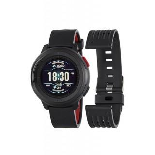 Reloj Marea B58002/1 Smart Actividad para hombre con correa de silicona negra, 3 ATM
