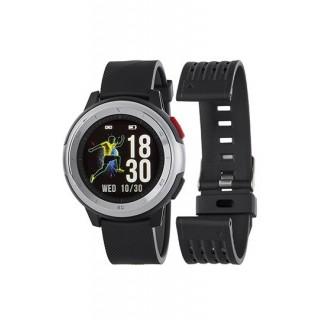 Reloj Marea B58002/2 Smart Actividad para hombre con correa de silicona negra, 3 ATM