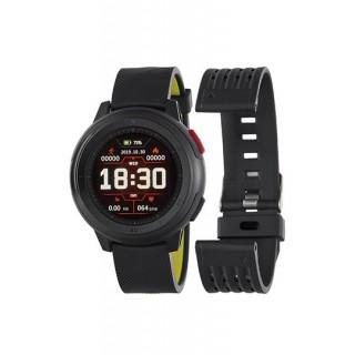 Reloj Marea B58002/3 Smart Actividad para hombre con correa de silicona negra, 3 ATM