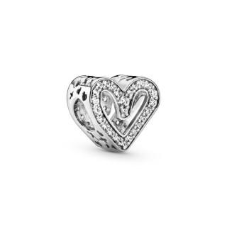 Charm Pandora 798692C01 em forma de coração com filigrana brilhante