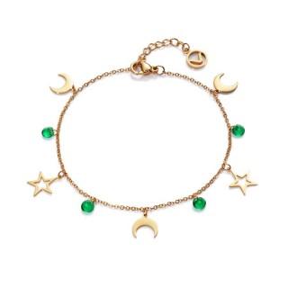 Pulsera Viceroy Fashion 75199P01012 dorado para mujer con detalle en forma de lunas y estrellas