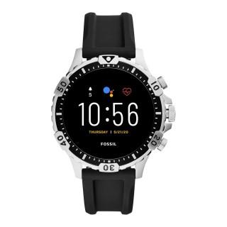 Relógio Fossil Q Garrett Gen 5 Para Homem Com Bracelete de Silicone Preto, 3 Atm