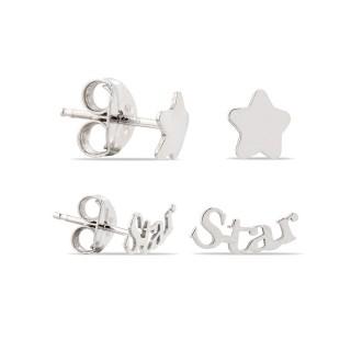 Pendientes de plata Star & Estrella