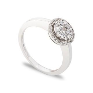 Anel de ouro 28 diamantes de 0,48 CT