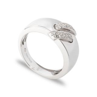 Anel de ouro largo com 30 diamante de 0,15 CT