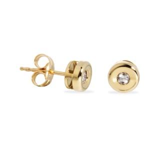 Pendientes de oro con diamante de 0,10 CT