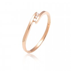 Anillo trilogy de oro con diamantes de 0,05ct