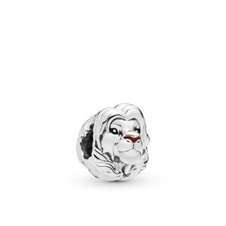 Charm Pandora 798049ENMX de prata em forma de simba