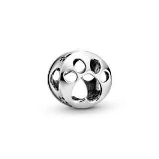 Charm Pandora 798869C00 de prata em forma de pata de cachorro