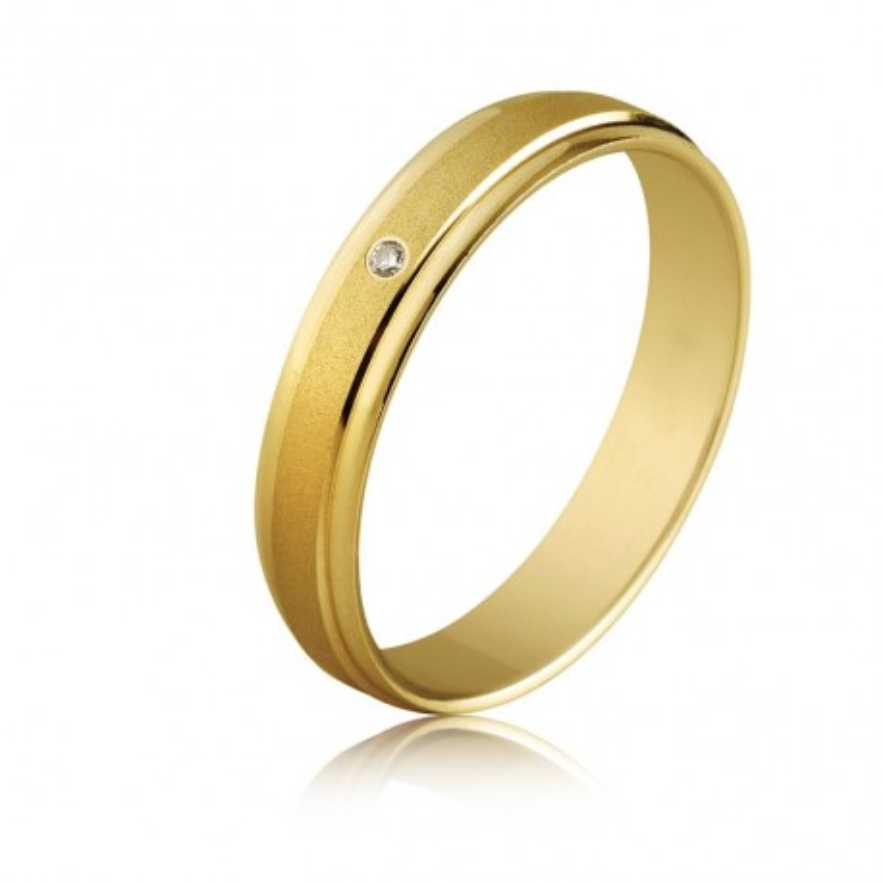 Alianza lisa Diamante 0,2CT Oro
