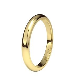 Aliança meida caña de Ouro 9 KT, 2,4 mm