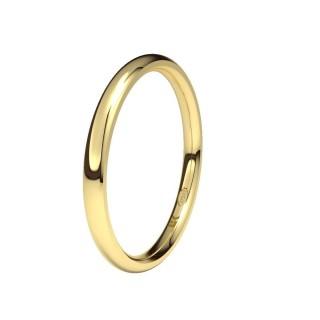 Aliança desenho almendra, Ouro 9 KT, 1,9 mm