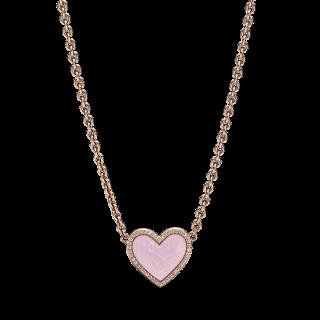 Colar Pandora 389279c01-50 Rose com Coração Rosa