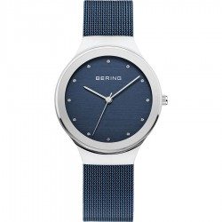 Relógio em aço Bering Azul 12934-307 Para Mulher