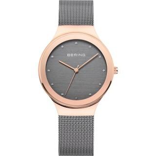 Relógio em aço Bering Cinza 12934-369 Para Mulher