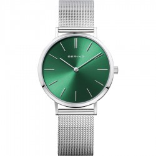 Relógio em aço Bering em aço Verde 14134-008 Para Mulher