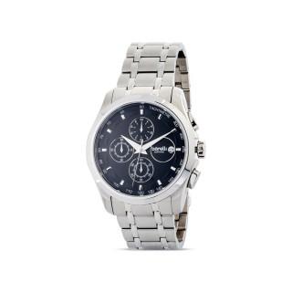 Reloj de acero Borelli Sapphire plata para hombre