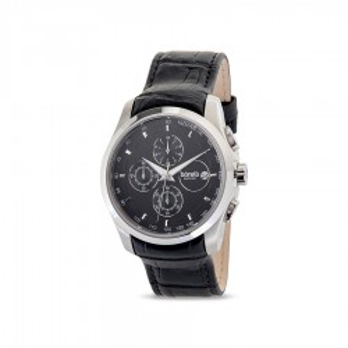 Reloj de cuero Borelli Sapphire negro para hombre