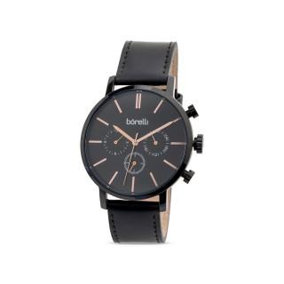 Reloj de cuero Borelli Archer negro para hombre
