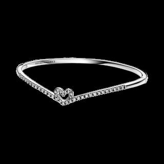 Pulseira Pandora 599297c01-2 em prata com Coração