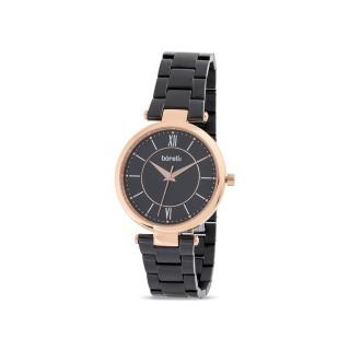 Reloj de acero Borelli Chic marrón para mujer