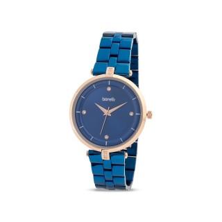 Reloj de acero Borelli Glam azul para mujer