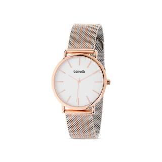 Reloj de acero Borelli Wave rosé para mujer