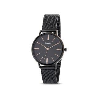 Reloj de acero Borelli Sophisticate negro para mujer