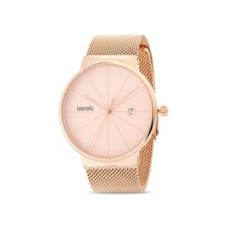 Reloj de acero Borelli Sunray rosé para mujer