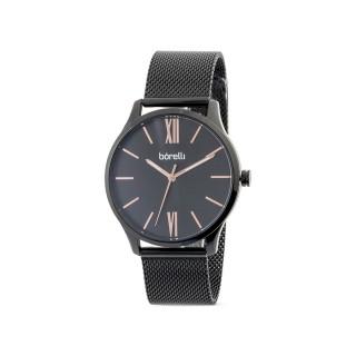 Reloj de acero Borelli Infinity negro para hombre