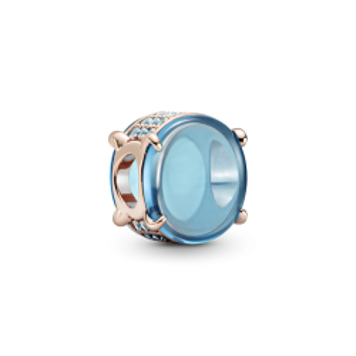 Charm Pandora 789309c01 Rose Cabujón Ovalado Azul
