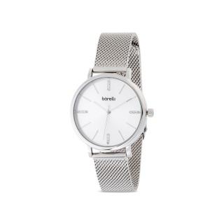 Reloj de acero Borelli Sophisticate plata para mujer