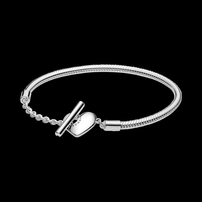 Pulsera Pandora de Plata 599285C00-19 Corazón Tamaño 19