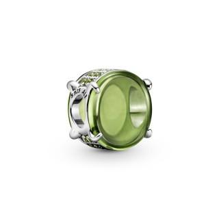 Charm Pandora 799309C02 de Prata Cabujón Ovalado Verde