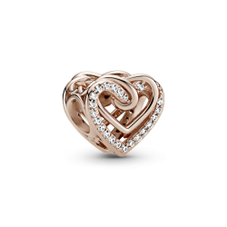 Charm Pandora 789270c01 Rose corações Entrelazados