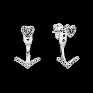 Pendientes Pandora de Plata 299280C01 Corazón y Circonitas