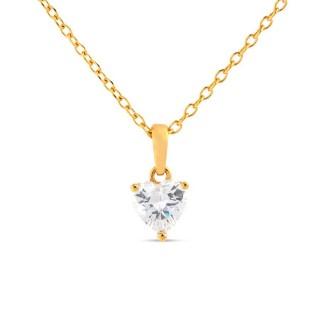 Colar banhado em Ouro com Zircônia 40+5cm Oro Vivo