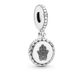Charm em prata Pandora mão hamsa 792018_E010