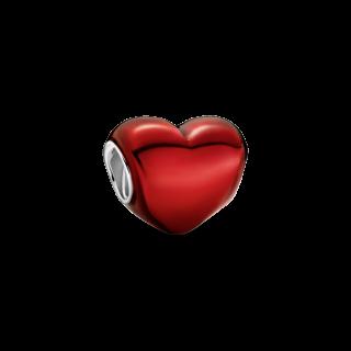 Charm Pandora 799291C02 de Prata com coração Rojo