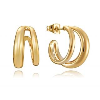 Brincos em aro em aço Viceroy 15071e01012 dourados