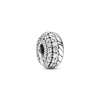 Clip de plata Pandora cadena serpiente circonita 799089C01